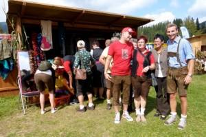 Sogar der Bürgermeister (ganz rechts) von der Veitsch hat uns besucht !!!!